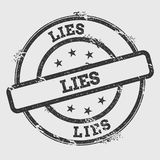 Lies rubber stamp isolated on white background. Royalty Free Stock Images