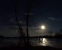 lies russia transbaikalia för fiskfiskeis bara blockerade vinter Arkivbilder