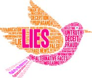 Lies Word Cloud. On a white background Stock Photography