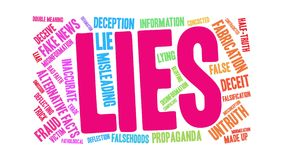 Lies Word Cloud royalty free illustration