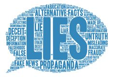 Lies Word Cloud. On a white background Stock Images