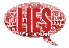 Lies Word Cloud. On a white background Stock Photos