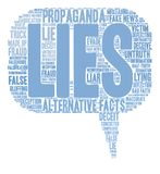 Lies Word Cloud. On a white background Royalty Free Stock Photography
