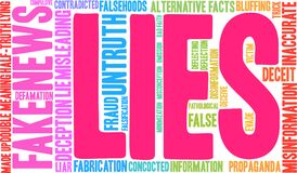 Lies Word Cloud. On a white background Royalty Free Stock Images