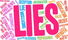 Lies Word Cloud. On a white background Royalty Free Stock Photo