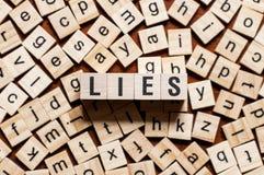 Lies word concept stock photo