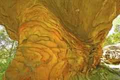 Liesegang szczegóły na piaskowcowej formaci Obrazy Royalty Free
