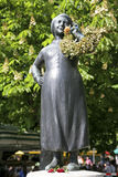 Liesl Karlstadt pomnik na Viktualienmarkt, Bavaria Fotografia Stock