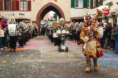 Liestal, Canton of Basel, Switzerland - February 26, 2012: traditional swiss german carnival Stock Image