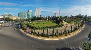 戴Liet Sy环形交通枢纽-越南 免版税库存图片