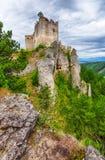 城堡Lietava废墟  免版税库存图片