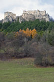Lietava castle and forest around Stock Photography