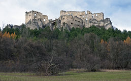 Lietava castle panorama Royalty Free Stock Photography