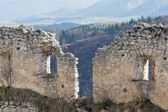 Lietava castle walls Stock Images