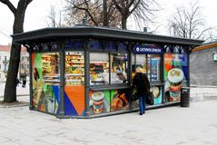 Lietuvos Spauda in bus station in capital of Lithuania Vilnius city Stock Images