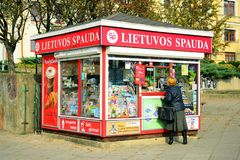 Lietuvos spauda newspapers selling network in Lithuania Stock Photo