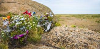 Lieu de culte dans le monument archéologique Terekty-Aulie Images stock