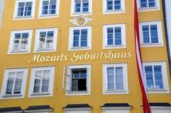 Lieu de naissance de Mozart à Salzbourg, Autriche Photographie stock libre de droits