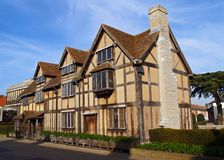 Lieu de naissance de shakespeares de Stratford Images libres de droits