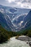 Lieu de naissance des chutes Jostedalsbreen Le comté de plus d'og Romsdal norway image stock