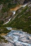 Lieu de naissance des chutes Le comté de plus d'og Romsdal norway images stock