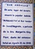 Lieu de naissance du Margartita images libres de droits