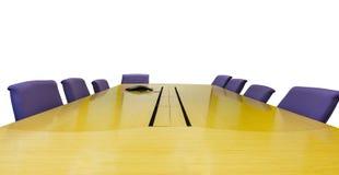 Lieu de réunion avec la table en bois Photos libres de droits