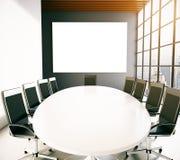 Lieu de réunion avec le tableau blanc vide Images stock
