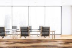 Lieu de réunion blanc panoramique brouillé illustration stock