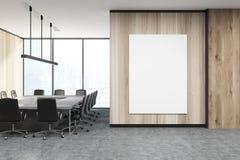 Lieu de réunion en bois, affiche Image stock