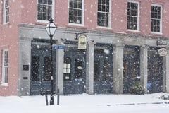 Lieu de réunion est de baie, tempête de neige à Charleston, Sc Image libre de droits