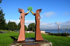Lieu de rencontre de sculpture Images libres de droits