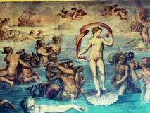 Lieu de rendez-vous antiques peignant Rome Italie européen Image libre de droits