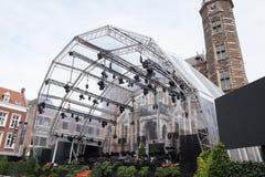 Lieu de rendez-vous d'événement à l'hôtel de ville dans Venlo, Hollande image libre de droits