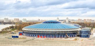 Lieu de rendez-vous pour le championnat 2014 du monde IIHF Photo libre de droits