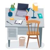 Lieu de travail à la maison Bureau d'indépendant illustration stock