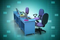 Lieu de travail avec l'ordinateur Photo libre de droits
