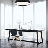 Lieu de travail confortable dans l'intérieur moderne rendu 3d Images stock