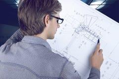 Lieu de travail d'ingénieur/architecte photos libres de droits