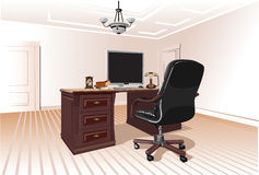 Lieu de travail dans la chambre Photo libre de droits