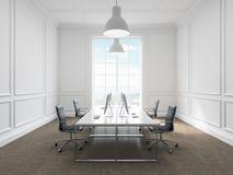 Lieu de travail dans un bureau Image libre de droits