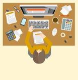 Lieu de travail de gestion d'Accounter Image stock