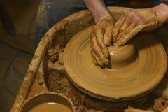 Lieu de travail de poterie photographie stock libre de droits