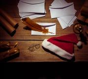 Lieu de travail de Santa Claus Photographie stock libre de droits