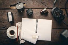 Lieu de travail du ` s de photographe Photographie stock libre de droits