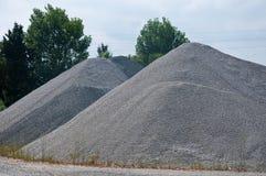 Lieu de travail qui contient de grandes quantités de sable Image stock