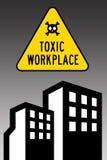 Lieu de travail toxique Images libres de droits