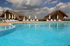 Lieu de villégiature luxueux dans le delta de Danube Images libres de droits