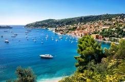 Lieu de villégiature luxueux de Cote d'Azur Gentil, Frances, la Côte d'Azur images libres de droits