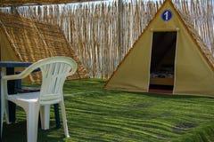 Lieu de villégiature pour des vacances de camping ou de cottage de famille photo stock